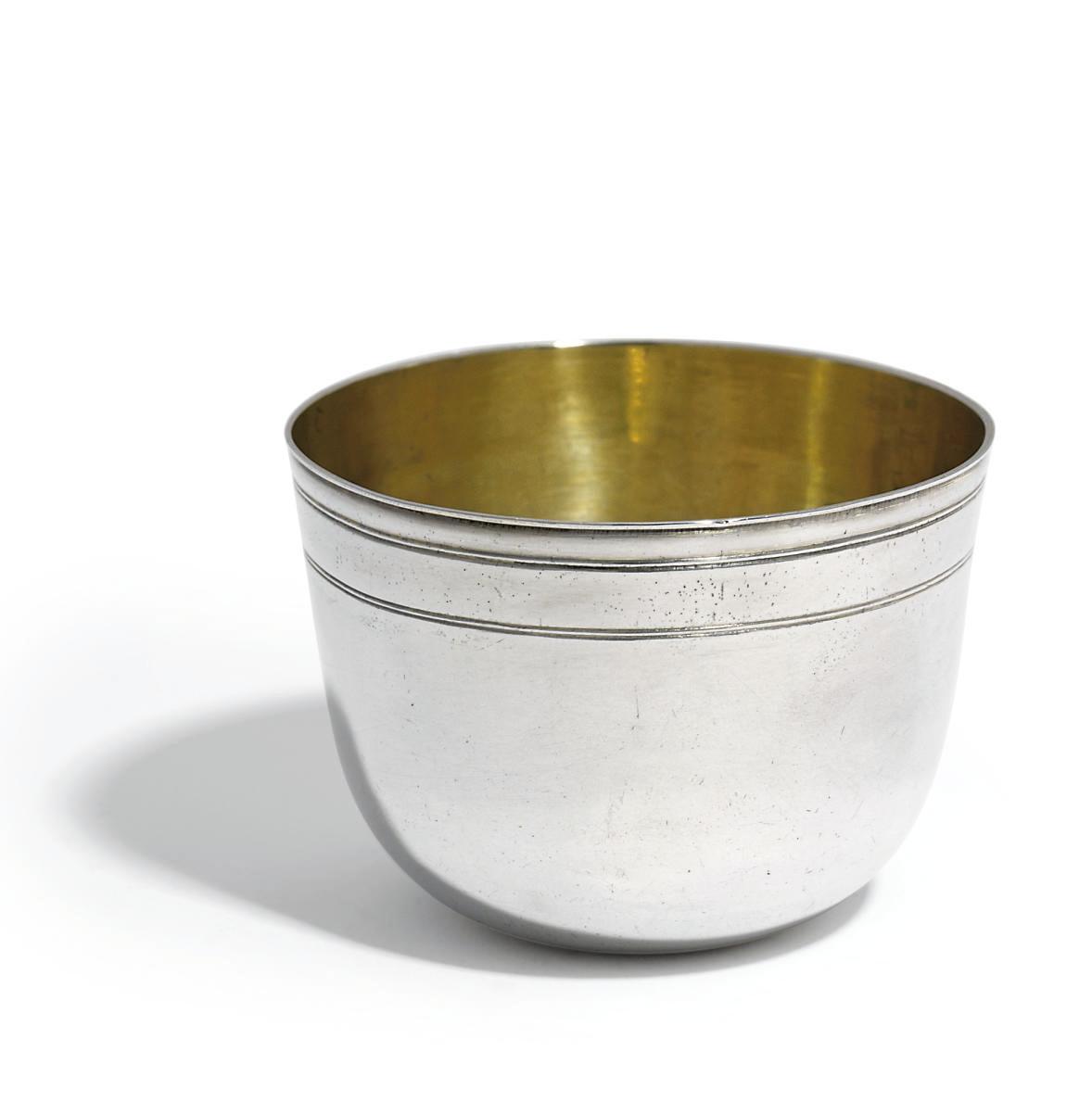 AN AUSTRIAN SILVER TUMBLER-CUP