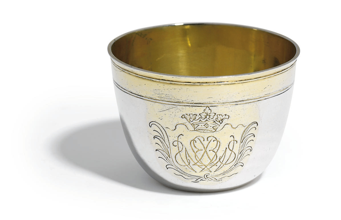 A GERMAN PARCEL-GILT SILVER TU
