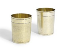 A GERMAN SILVER-GILT BEAKER