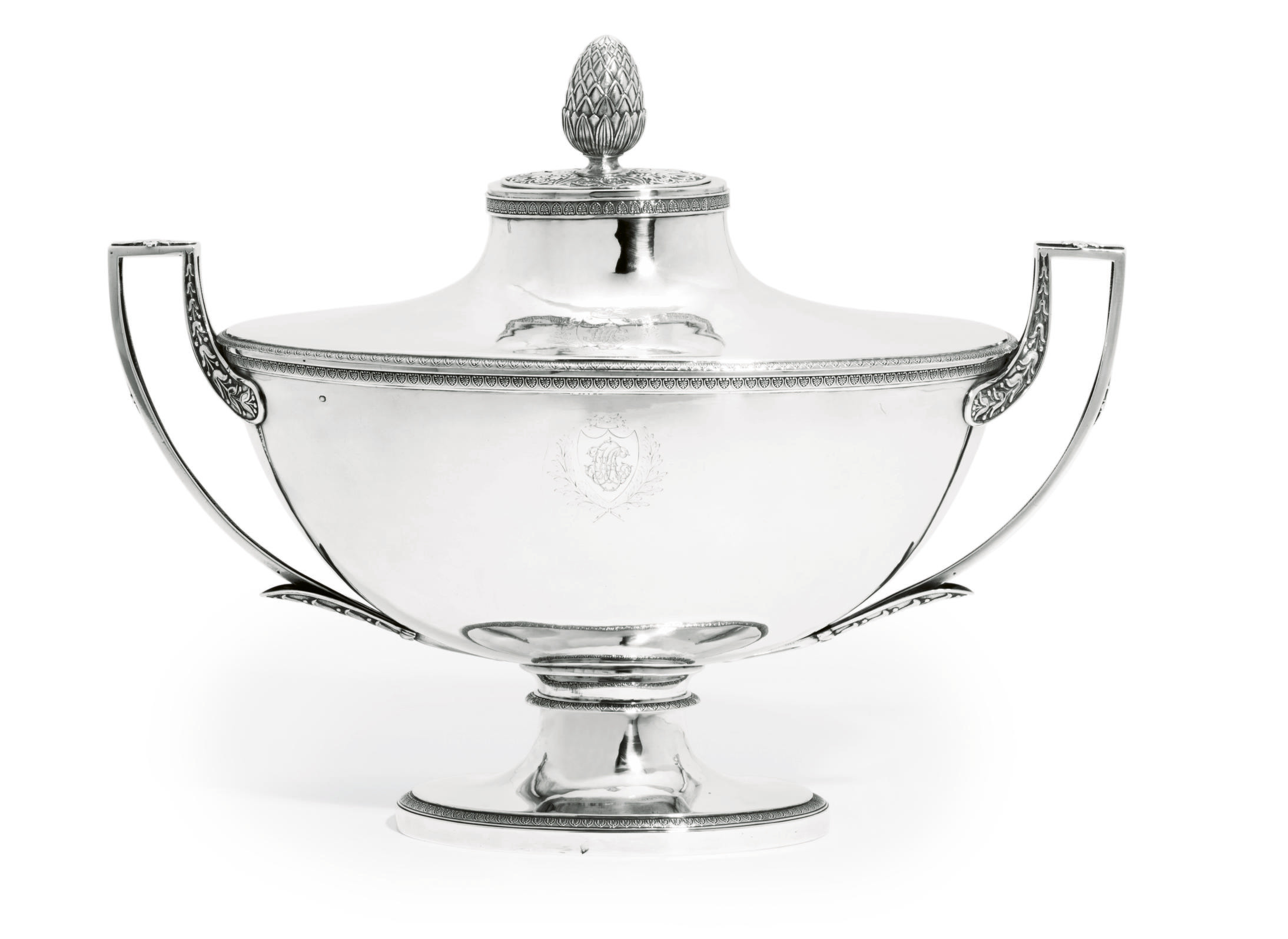 A FRENCH SILVER SOUP-TUREEN, C