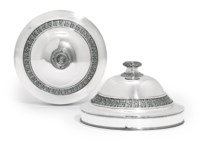 AN IMPORTANT PAIR OF FRENCH SILVER DISH-COVERS