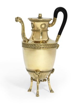 A FRENCH SILVER-GILT COFFEE-PO
