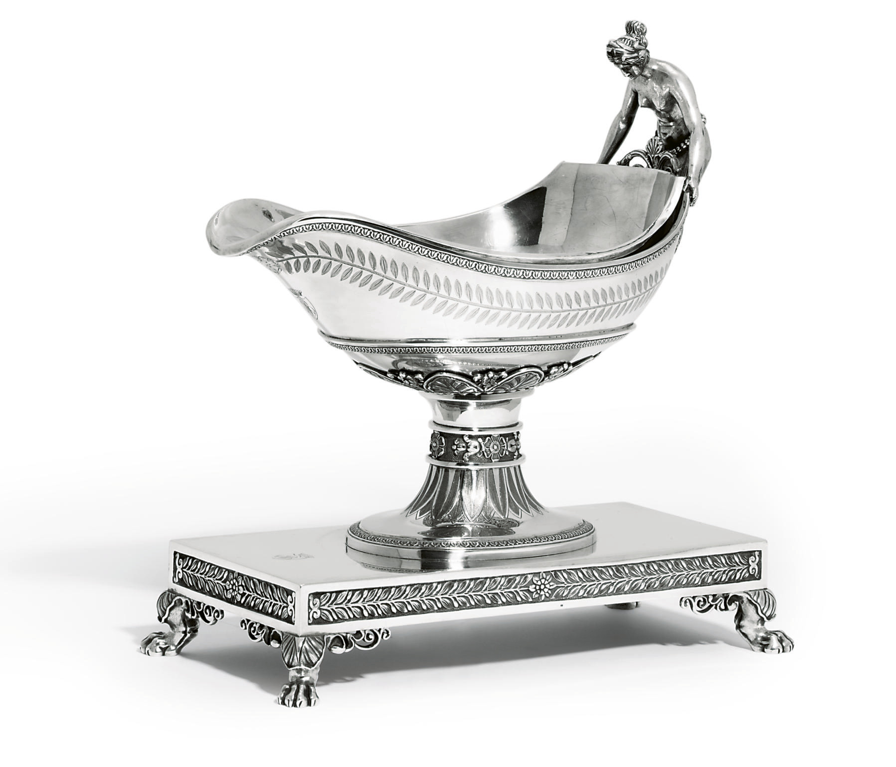 A FRENCH SILVER SAUCEBOAT, STA