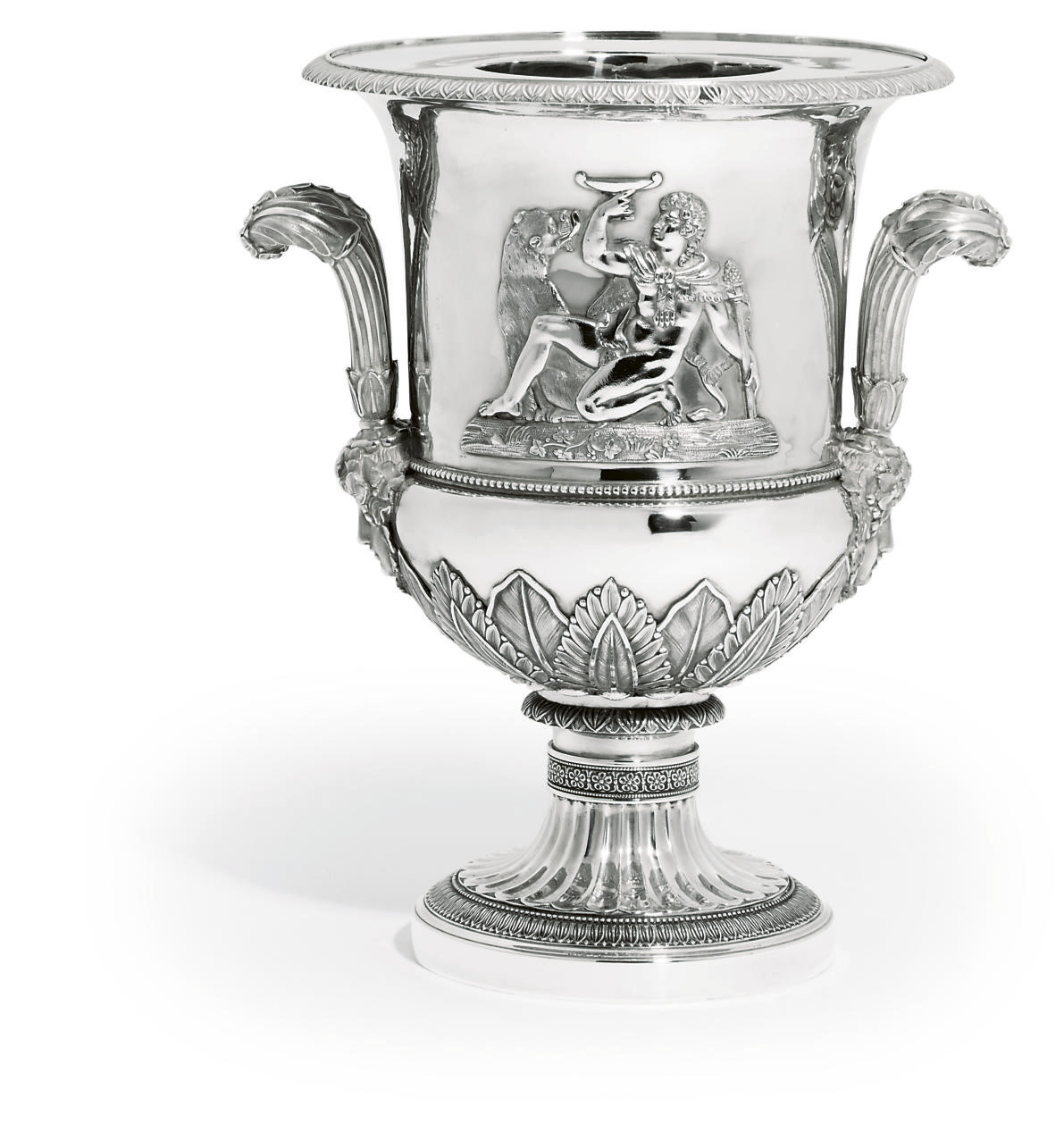 A FRENCH SILVER WINE-COOLER AND COLLAR