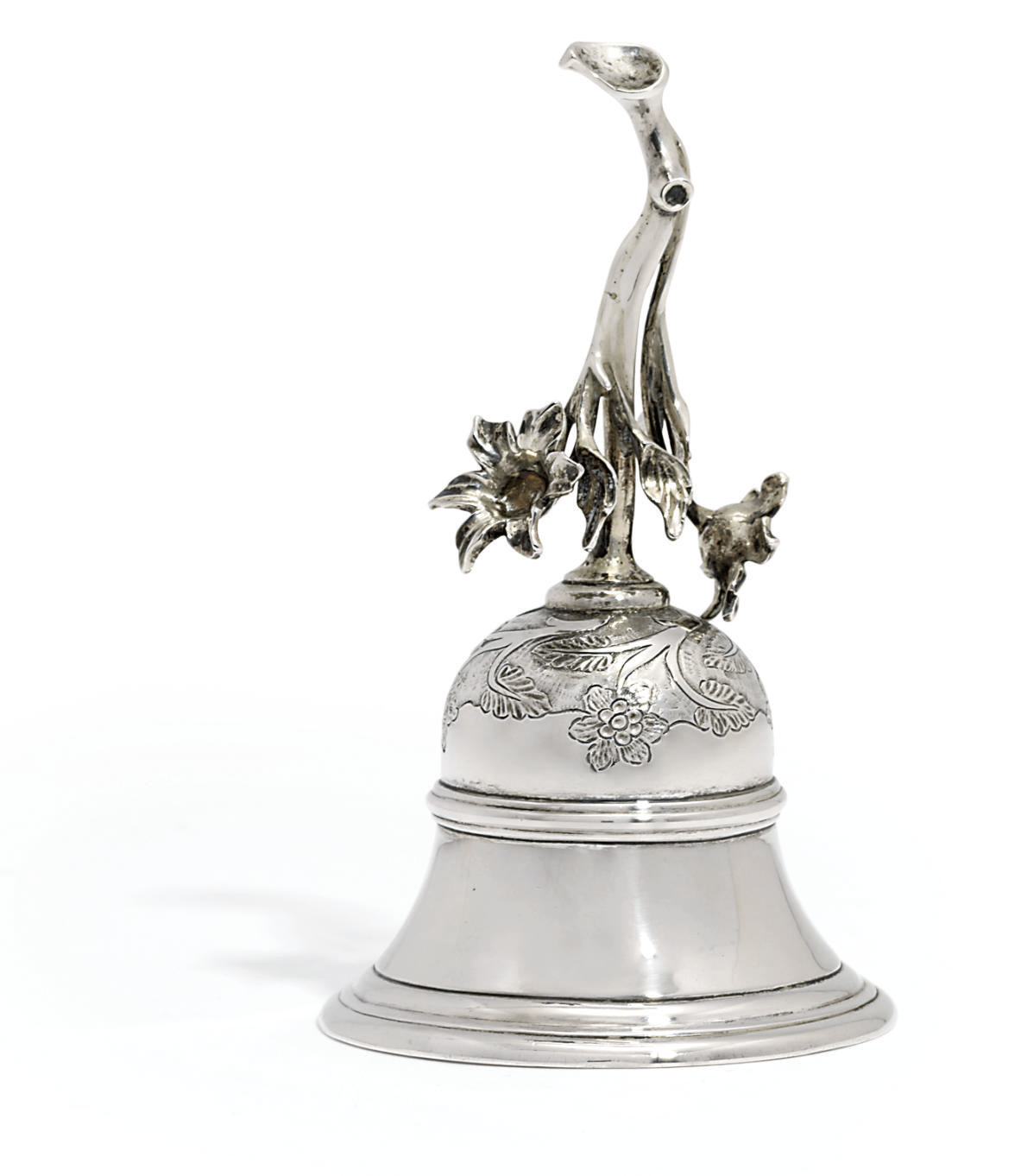 A DUTCH SILVER TABLE-BELL