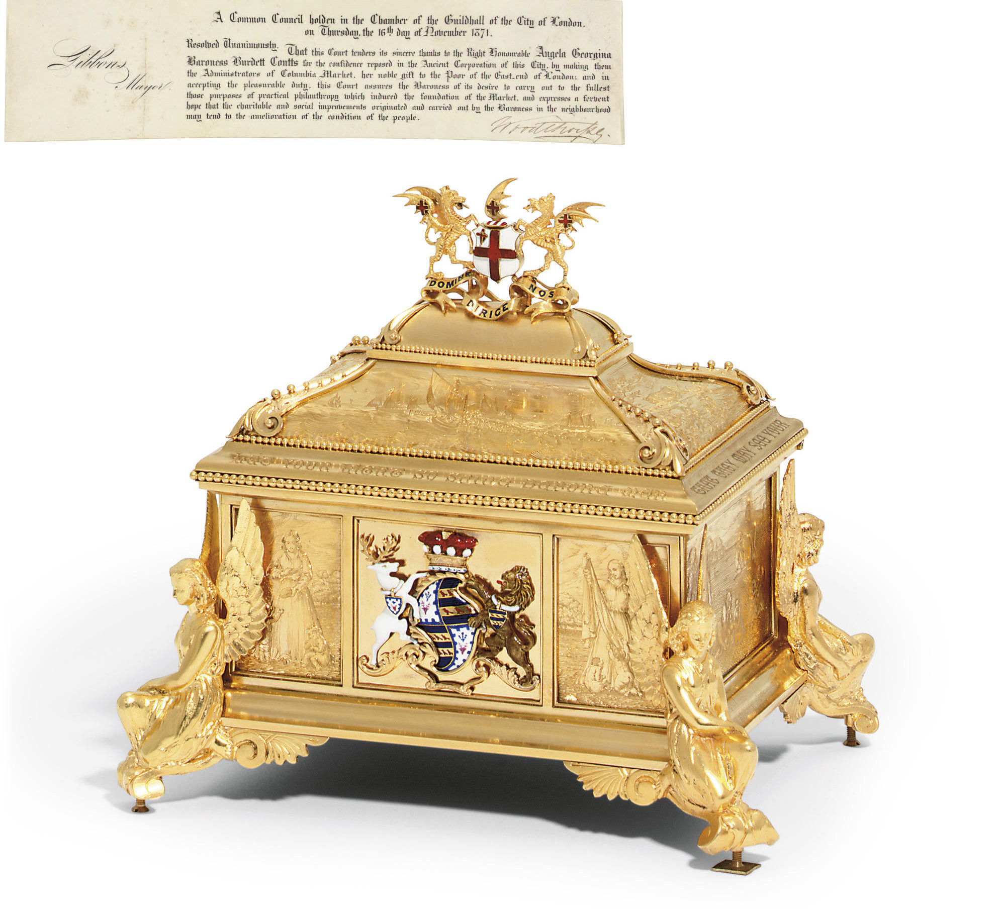 A VICTORIAN GOLD AND ENAMEL CA