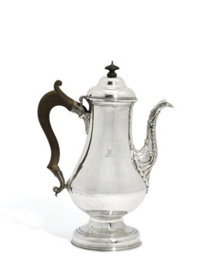 A GEORGE II IRISH SILVER COFFE