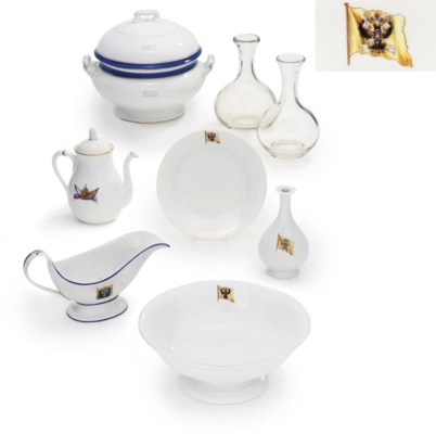 A selection of porcelain and g