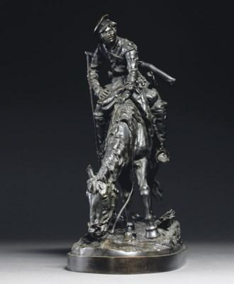 A bronze figure of a Cossack o