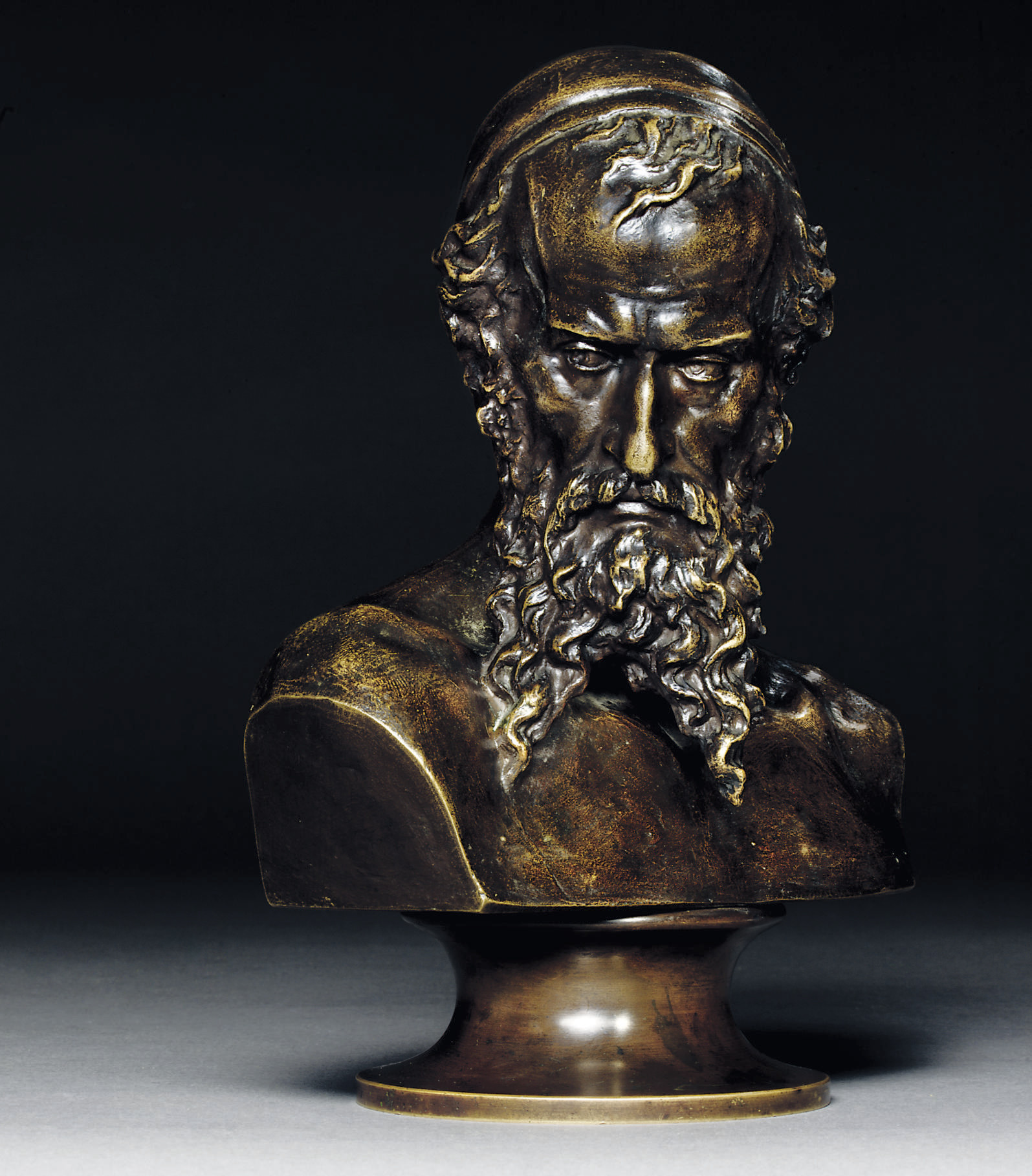 A bronze bust of Nathan the Wi