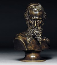 A bronze bust of Nathan the Wise [Natan Mudryi]