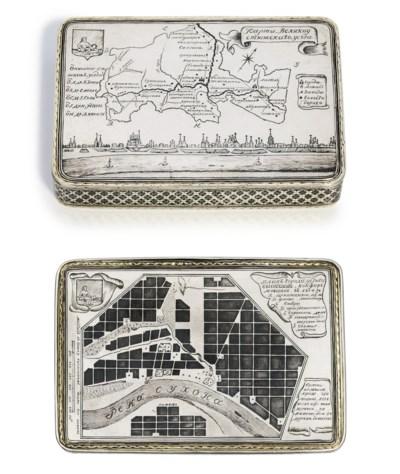 A parcel-gilt and niello carto