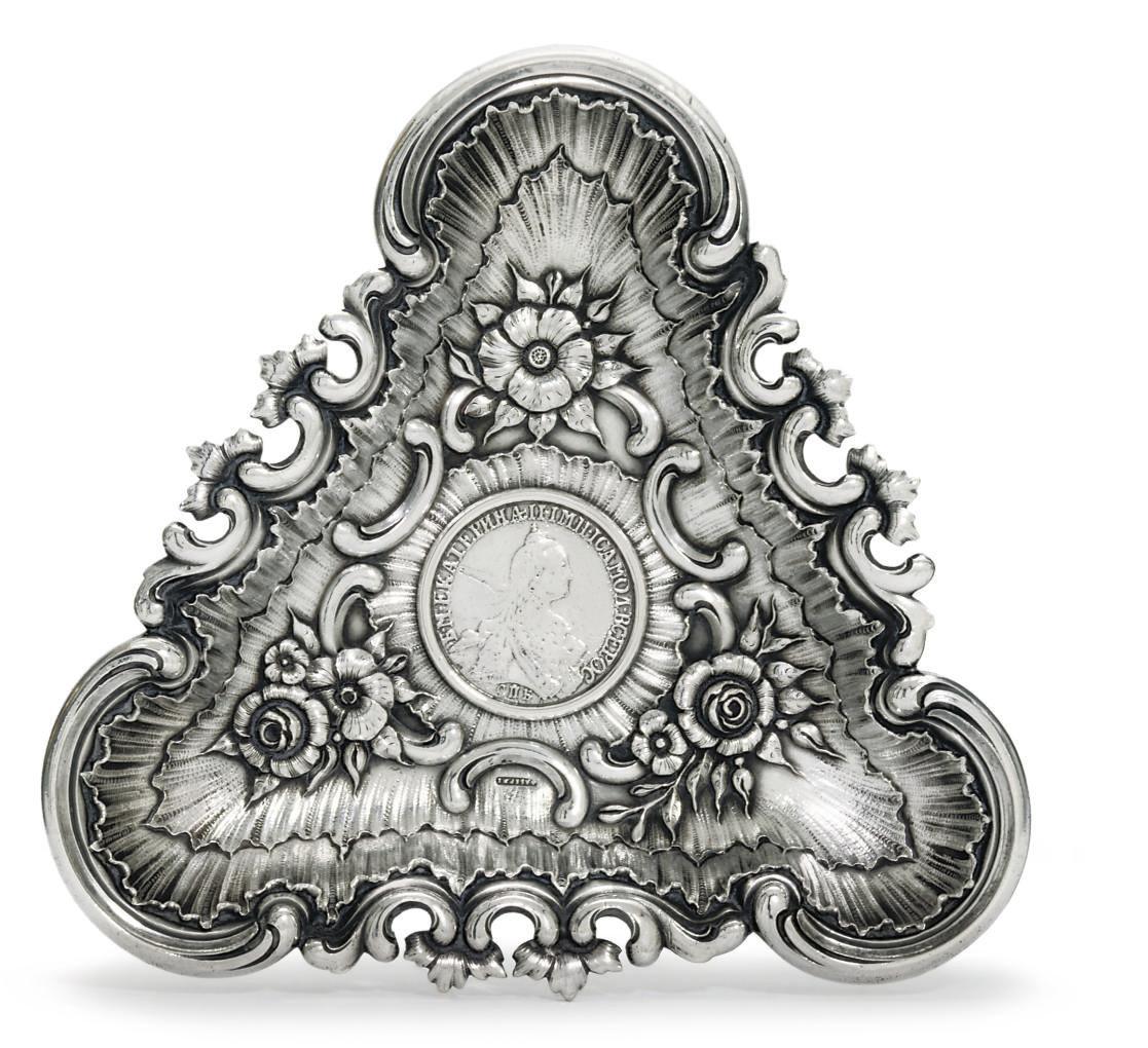 A small silver-dish