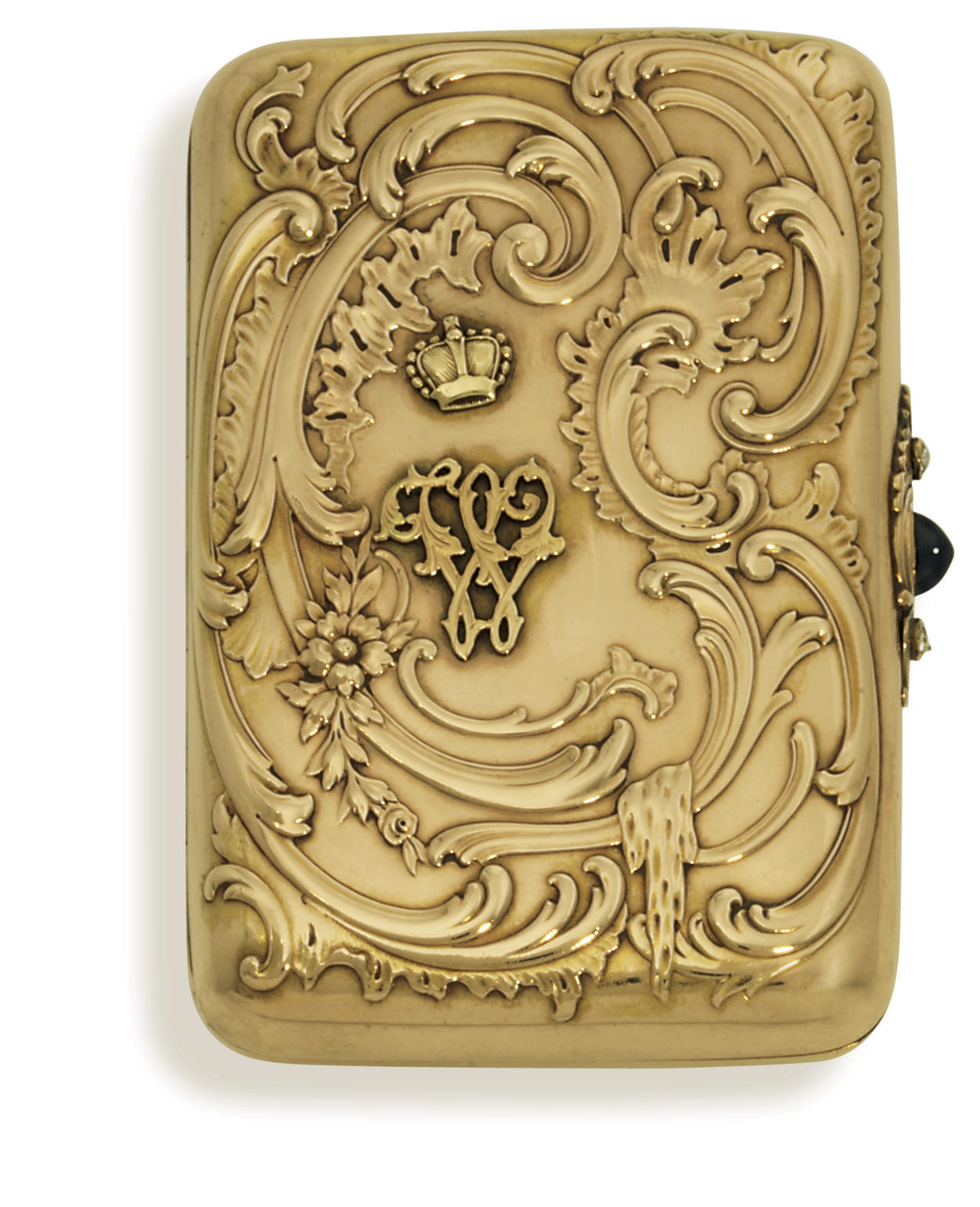 A jewelled gold cigarette-case