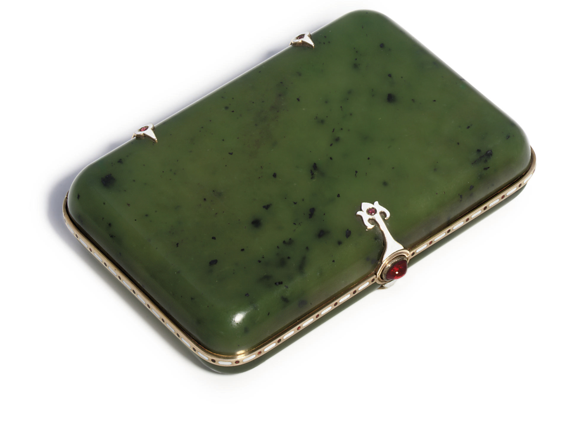 A jewelled and enamelled gold-