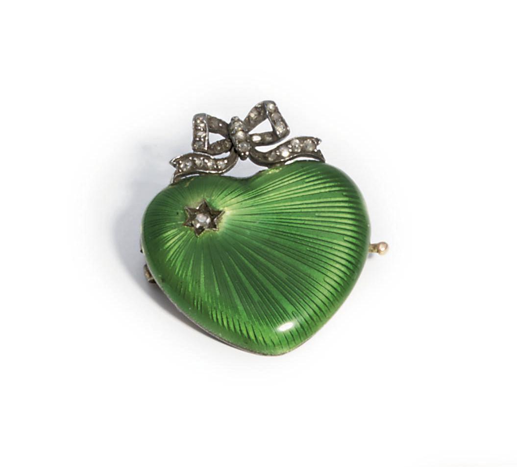 A jewelled guilloché enamel go