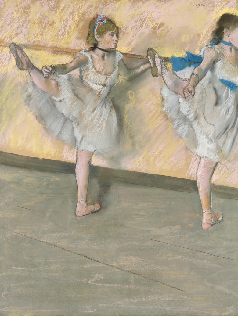 Edgar Degas (1834-1917), Danseuses à la barre, executed circa 1880. 25⅞ x 19⅞  in (65.8 x 50.7 cm). Sold for £13,481,250 on 24 June 2008 at Christie's in London