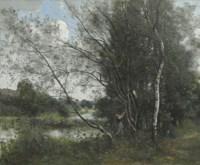 Ville-d'Avray, l'étang à l'arbre penché