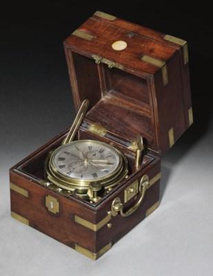 A Victorian small brass-bound