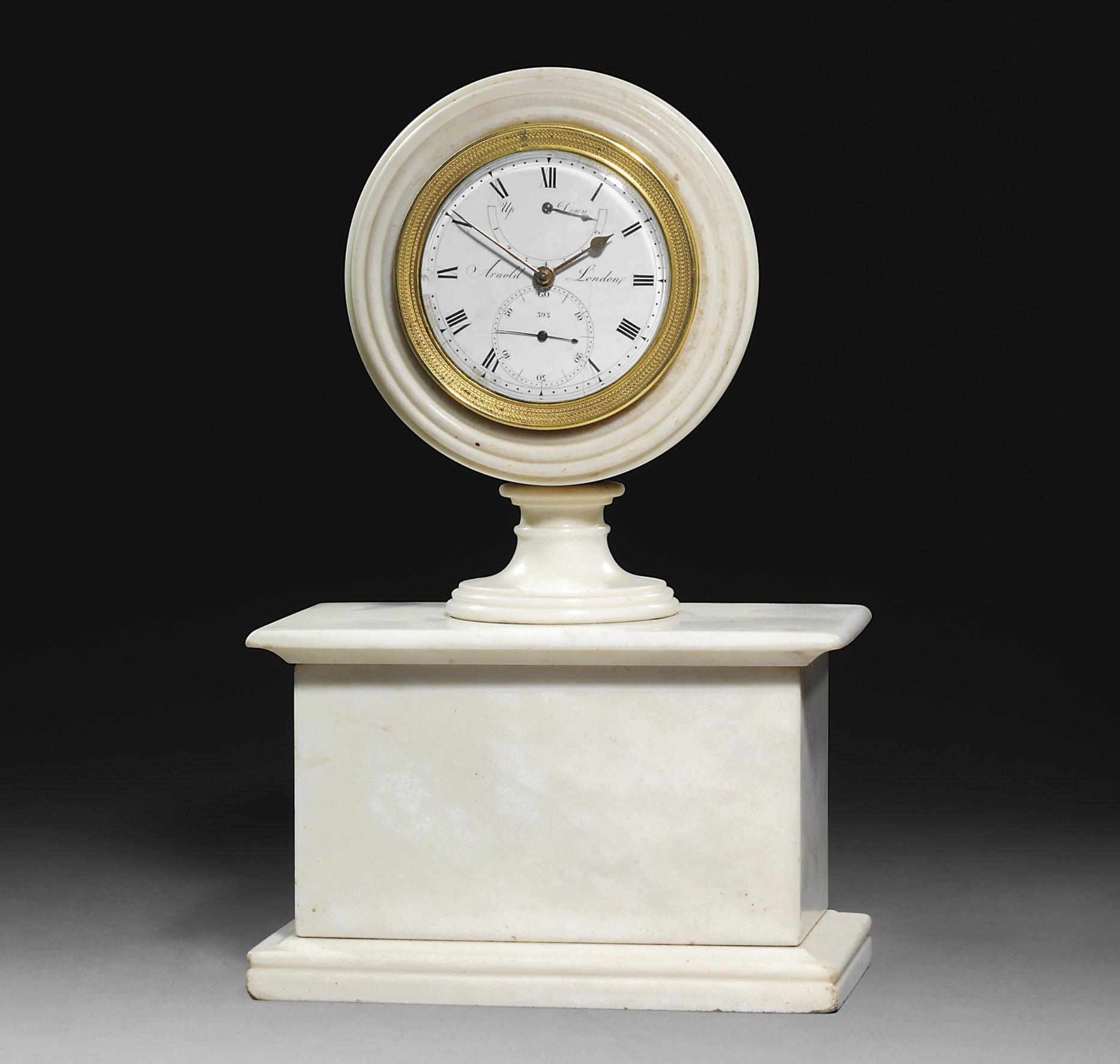 A George III white marble, bra