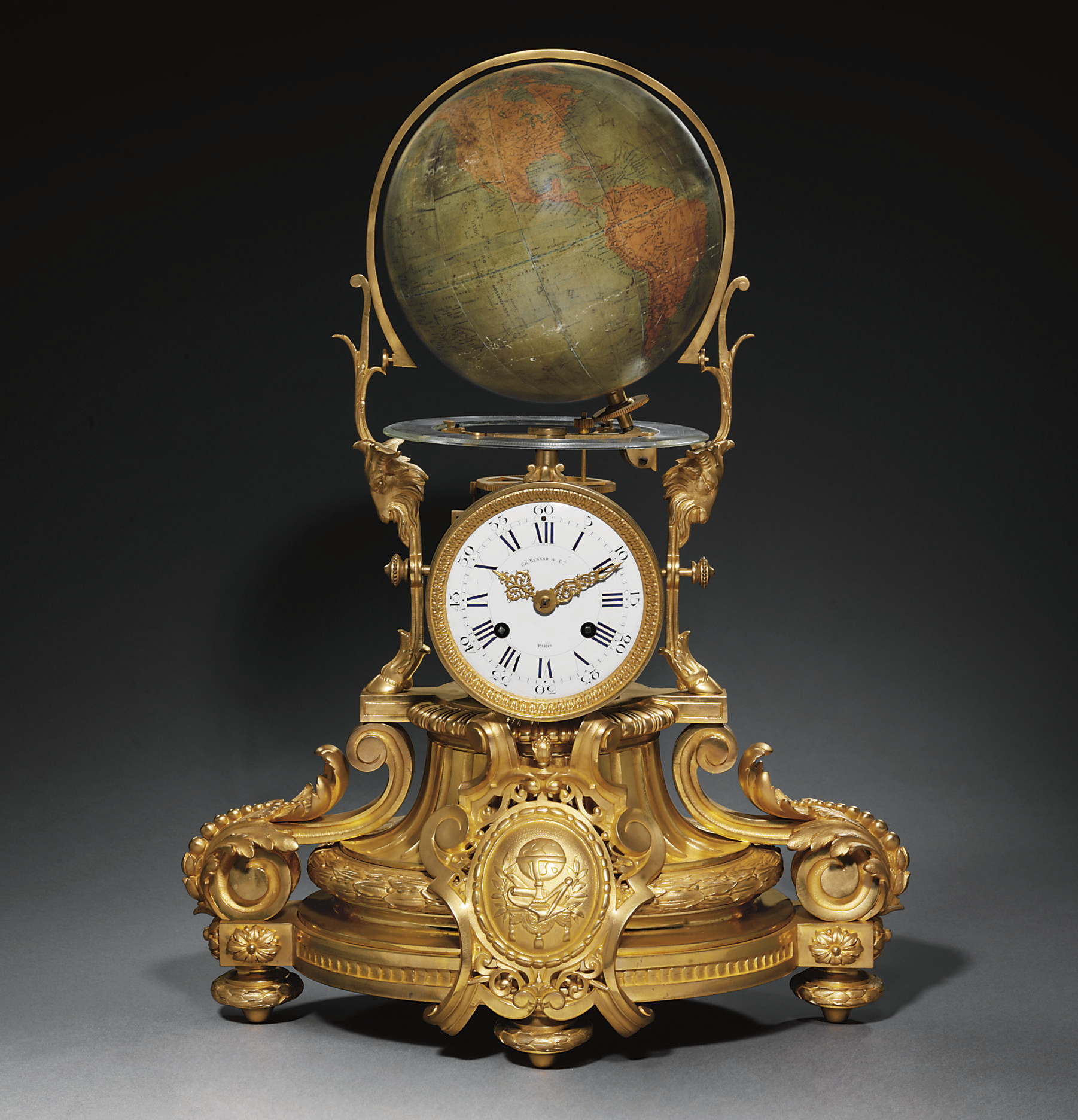 A French ormolu striking eight