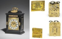 A William III gilt-brass mounted ebony eight day striking table clock with pull quarter repeat