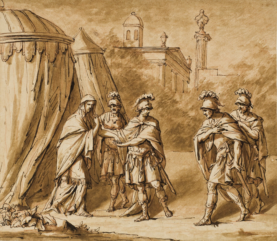 Coriolanus and his encampment outside Rome