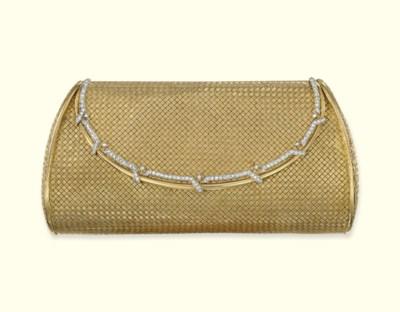 A DIAMOND-SET EVENING BAG