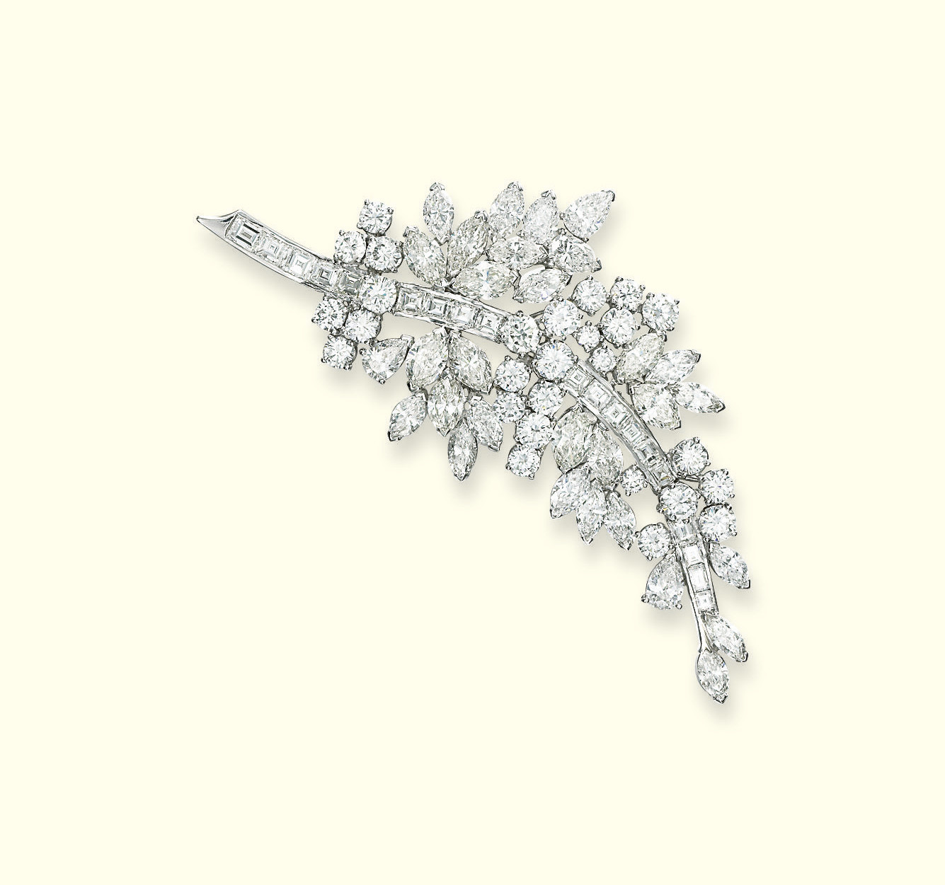 A DIAMOND BROOCH, BY JAHAN