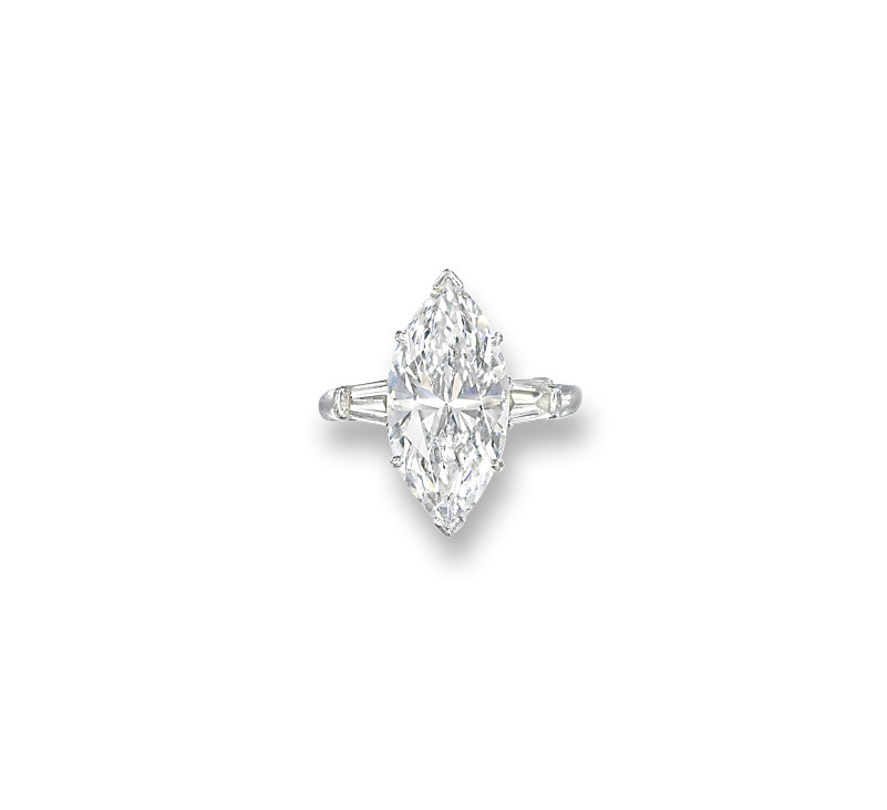 A DIAMOND SINGLE-STONE RING, B