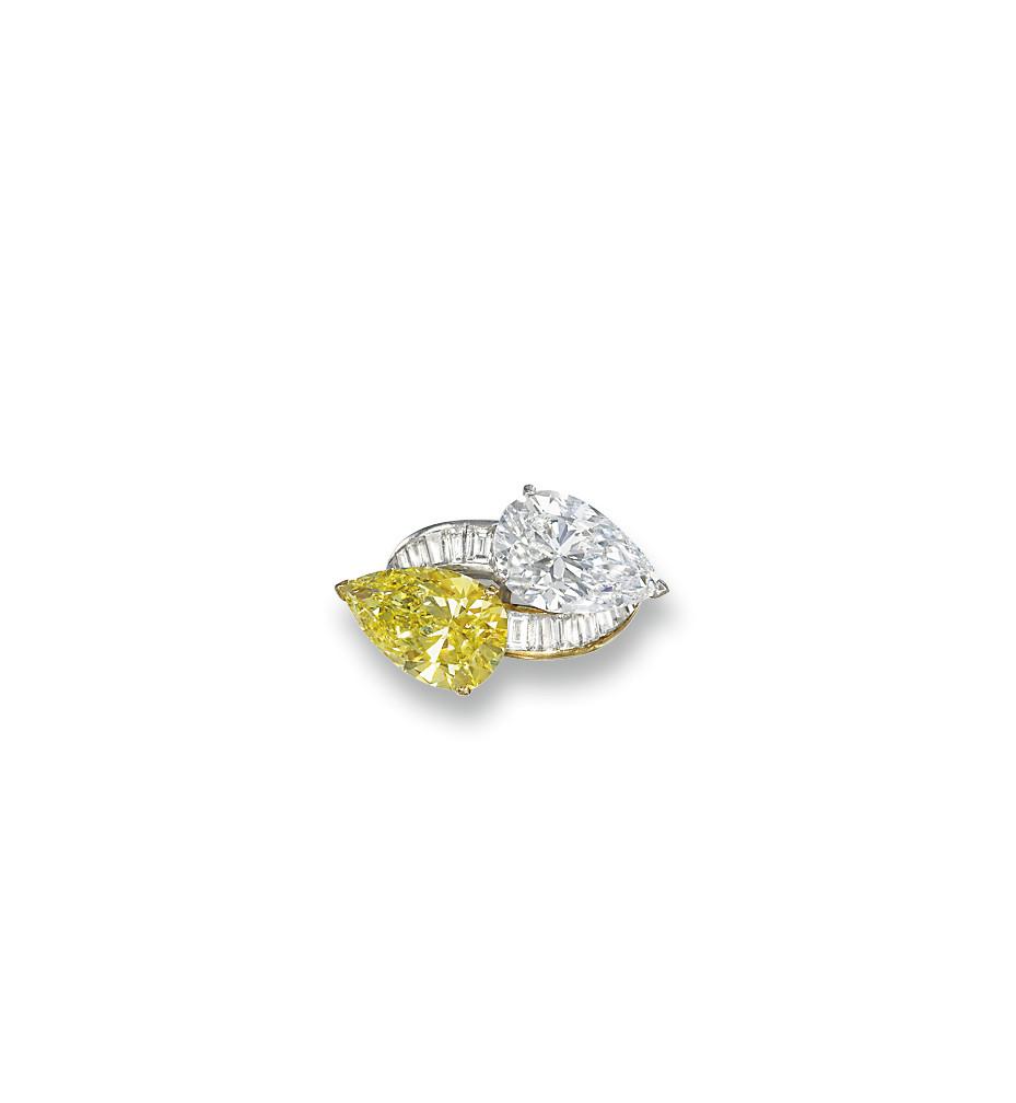 A FINE DIAMOND AND COLOURED DI