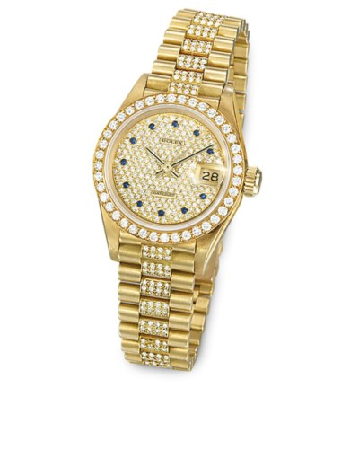 A LADY'S DIAMOND-SET DATEJUST