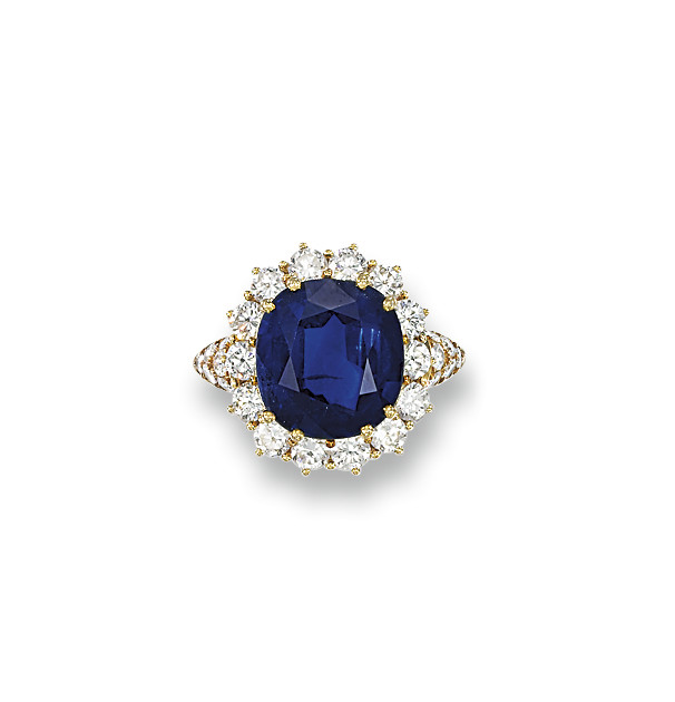 A SAPPHIRE AND DIAMOND CLUSTER