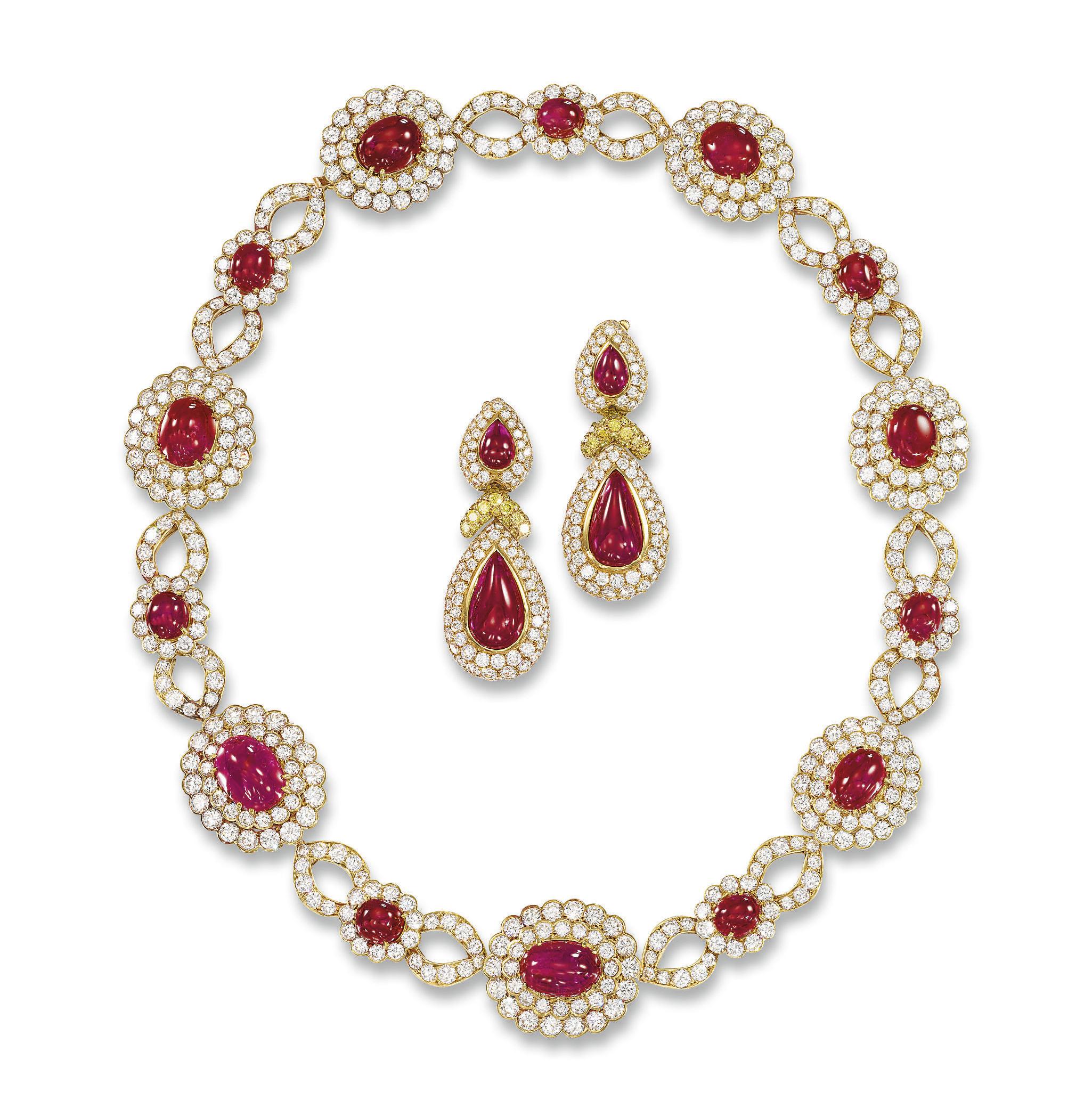 A RUBY AND DIAMOND 'VERLAINE'