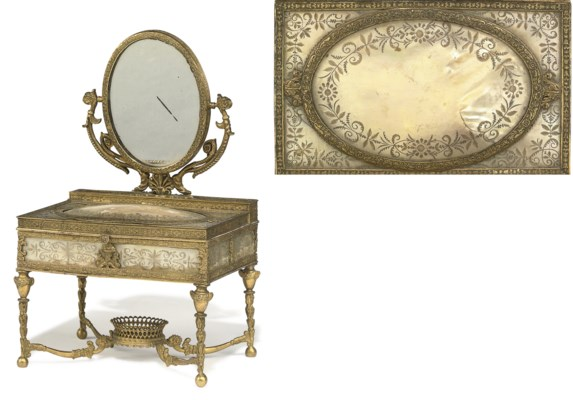 A CHARLES X ORMOLU AND ENGRAVE