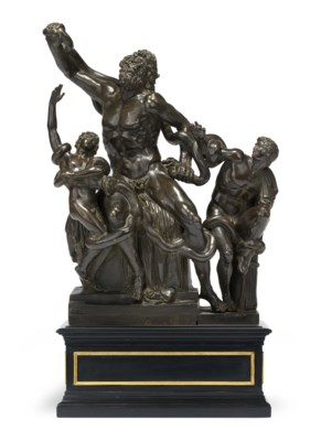 A BRONZE GROUP OF THE LAOCÖON