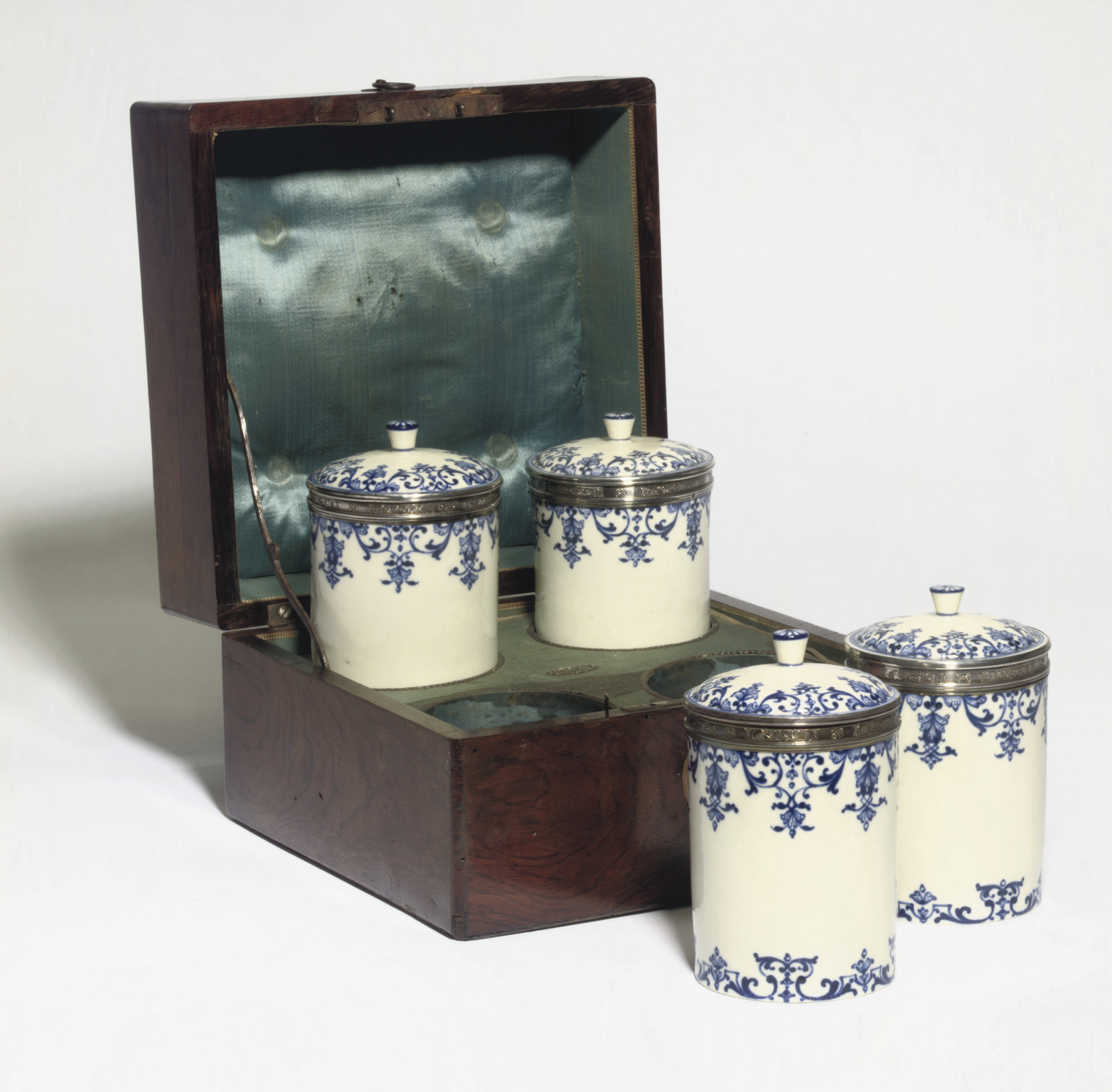 A SET OF FOUR LOUIS XV SILVER-