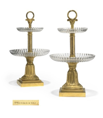 A PAIR OF EMPIRE ORMOLU AND CU