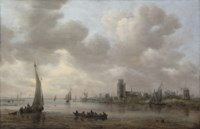 A view of the Maas with Dordrecht beyond