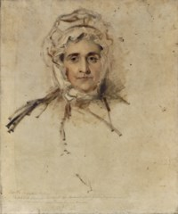 Portrait of Lucy Lawrence, the artist's mother, a sketch