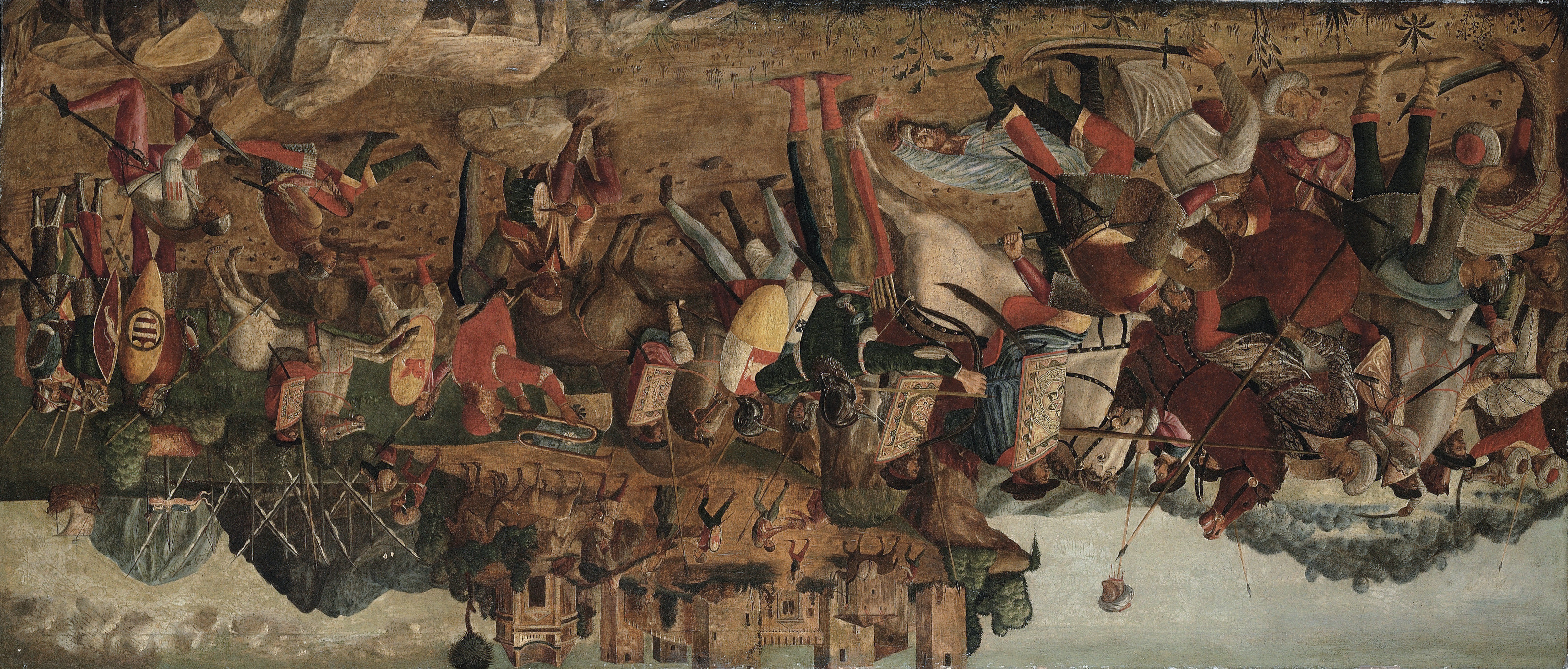 A cavalry skirmish between Christians and Turks