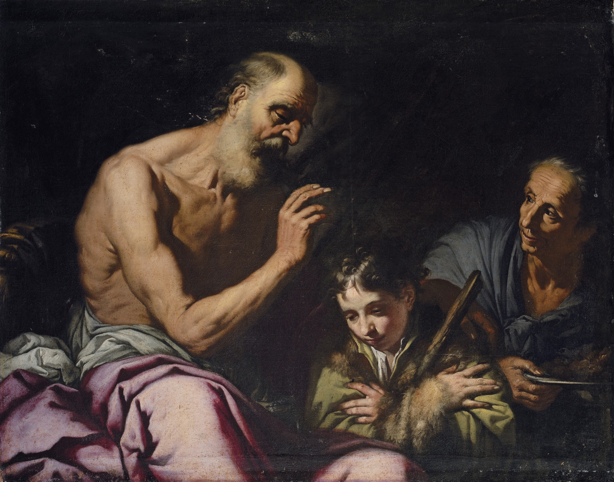 Jacob receiving the blessing of Isaac