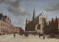 A view of Haarlem with St. Bravo's Cathedral