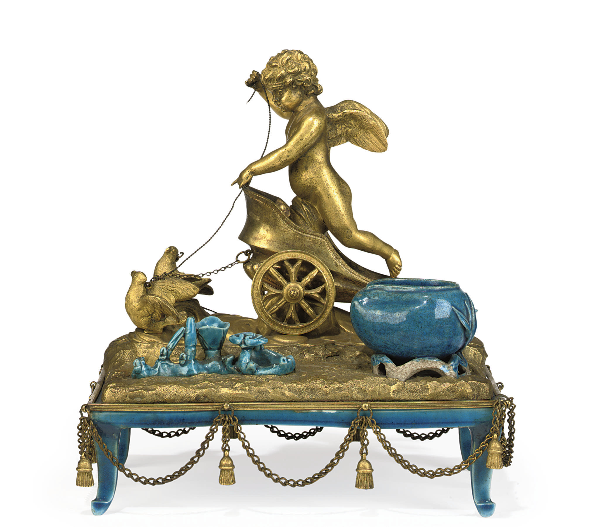 AN EMPIRE ORMOLU-MOUNTED CHINE