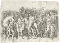 Bacchanal with Silenus (B. 20; Hind 3; Martineaux 75)