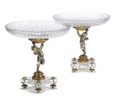 A PAIR OF FRENCH ORMOLU, SILVE
