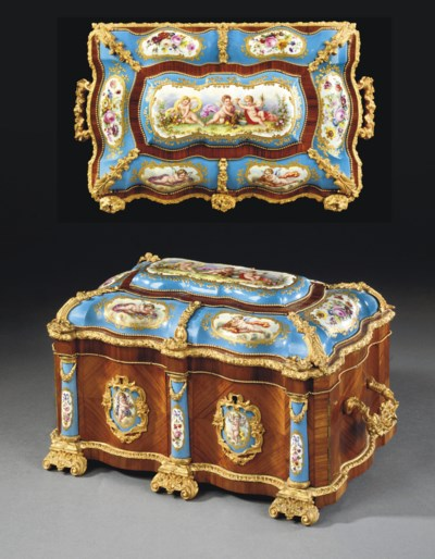 A NAPOLEON III ORMOLU AND SEVR