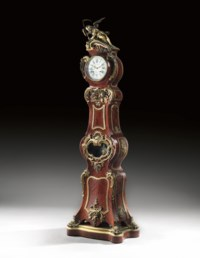 A FRENCH ORMOLU-MOUNTED SATINE AND PARQUETRY REGULATEUR
