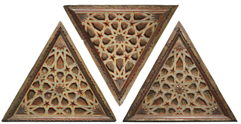 THREE NASRID TRIANGULAR CEILIN