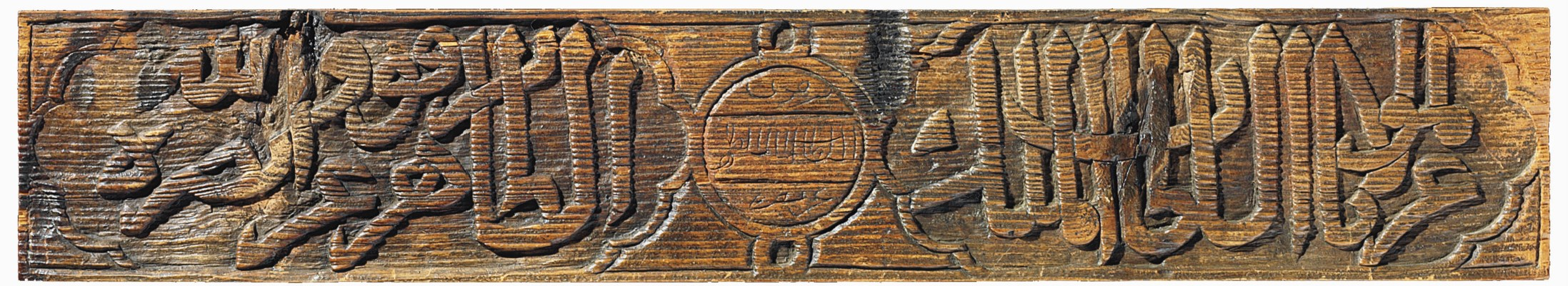A MAMLUK CARVED WOODEN PANEL